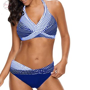 Bikini Womens Letter Swimming Suit Polka Dot Bikinis Set Push Up Padded Bra Plus Size Swimwear Beach Swimsuit Bikini Biquini T1g1