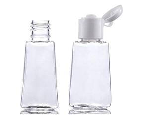 Квадратная форма 30 мл ясно пустой дезинфицирующее средство для рук бутылка 1 унция дезинфицирующее средство для рук пластиковые бутылки для мытья рук жидкости много горячей продажи LLy