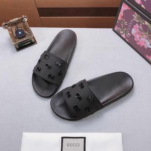 21 derniers Hommes Femmes Sandales Designer20ss glissière Chaussures Diapo été Mode plat Slippery avec des sandales épais Slipper Tongs