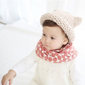 LIHFSI 2019 Autumn Winter Knitted Cotton Wool Baby Scarf Kids O Ring Scarves Girls Boys Neck Collar Thick Girls Scarf W021