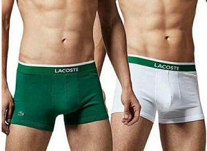 Padrão LY7 Boxer Men Cotton Underwear curto For Men Sexy Luxo Roupa interior Casual Shorts Roupa Interior Man Curto gay