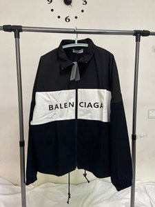 2020 весной новой куртка мужской моды тенденция свободно хлопчатобумажная ткань ветрозащитного хит цветого сшивание M-L-XL мужские и женские пальто же