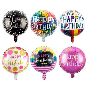Balloons of 18inch Circular Aluminum Foil Birthday Balloons 30PCS Hot Sale for Children Birthday Party Decoration
