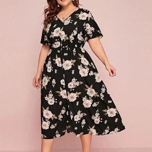 2020 Women Aesthetic Sexy Plus Size Short Sleeve Printing Elegant Dress Long Dress Party Club Tunic Summer Vestidos