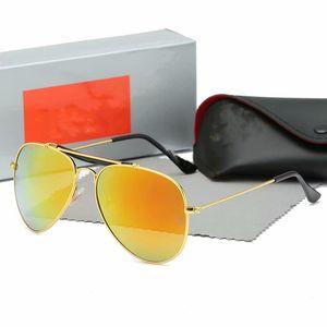 Top quality plate classic black metal hinge frame sunglasses 3025-1 stylish women's sunglasses 50mm glass lens with a black box