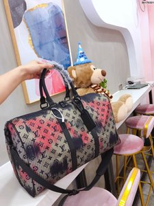 2020 men duffle bag women travel bags hand luggage luxury designer travel bag men pu leather handbags large cross body bag totes 46cm