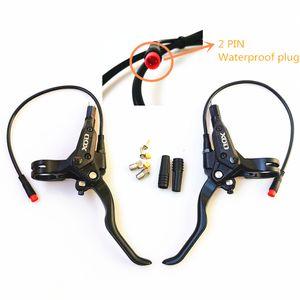 Nueva EBike freno de disco hidráulico interrupción de la alimentación del freno 2PIN enchufe impermeable EBike Vespa bricolaje montaje Frenos parte posterior del frente