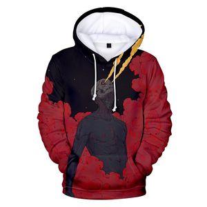 Hoodie 3D Crânio camisola dos homens / mulheres Horror Pullovers 3D Imprimir Skullcandy Crossbones demónio Holloween Hoodies Além disso topo Tamanho