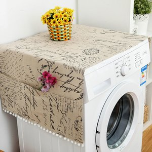 Roller Washing machine Cover 2019 New Rural style Dust proof Covers Multi-function Refrigerator Dust Cover Storage Bags