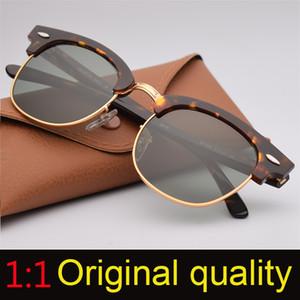Brand Designer Club Ryas Солнцезащитные очки Мужчины Женщины UV400 51мм 49мм стекло объектива Солнцезащитные очки для женщин Человек с оригинальных аксессуаров