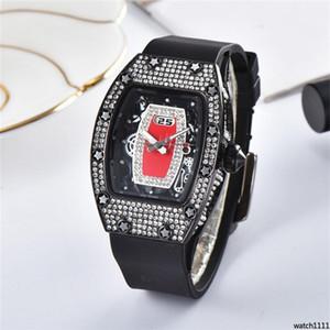 watch1111 Womens diamond watches Rubber Strap Women quartz watch Fashion high quality ladies dress Clock dial Rhinestone Quartz watches