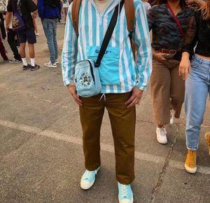 GOLF ВАН Tactical кожаный пояс Высокое качество дизайнер Цветочек холст Хип-хоп Уличная мода бренд мужчин и женщин сумка груди