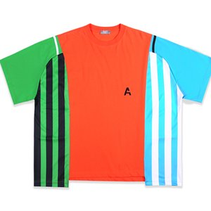 20SS The latest T-Shirts Three-color stitching Top Tees High Quality Men Women Cotton T-Shirts
