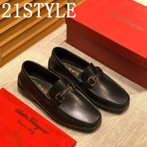 19FS Plus Size 38-45 luxurious Men Leather Tassel Loafers Pointed Toe British Style Vintage Carving Wingtips Brogues Shoes Slip On Men Flats