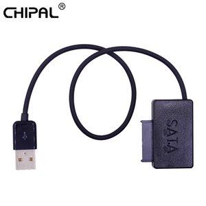 Cabos de computador Escritório Computador Connectors CHIPAL USB 2.0 para 7 + 6 13Pin Slimline SATA II cabo com LED indicador para Notebook
