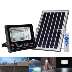 Solar luces de inundación OutdoorIndoor 1000Lumen recargable con energía solar llevó la luz de seguridad impermeables encendido / apagado automático para el jardín