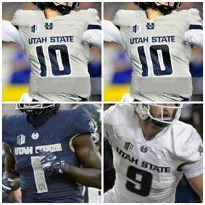 Пользовательские штата Юта Aggies 2020 Футбол Любой Название Количество Темно-синий Серый Белый 10 Любовь 16 Nathan 9 Бобби Вагнер 54 Джерси 4XL