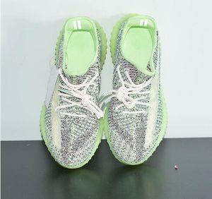 NEW Yeezreel Kanye West Running Shoes Green Black Reflective Mesh Mens Women Designer Sport Sneakers Trainer Size 5.5-13