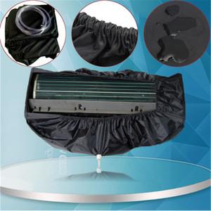 Cubierta de aire acondicionado lavado montado en la pared aire acondicionado limpieza cubierta protectora de polvo herramienta limpia cinturón de apriete para 1-3 P bluesky1990