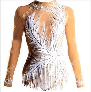 кристалл обычай фигурное катание платье женщина дети платье для взрослых фигурное катание с длинным рукавом ледяная женщина дети девушка 09