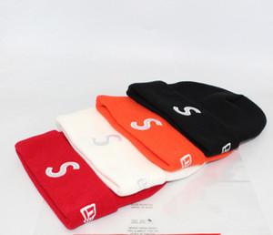 2019 осень зима Марка Sup Box Logo S Трикотажные Hat Письмо Шерстяные шапки Мужчины Женщины моды Hiphop Кашемир шапки