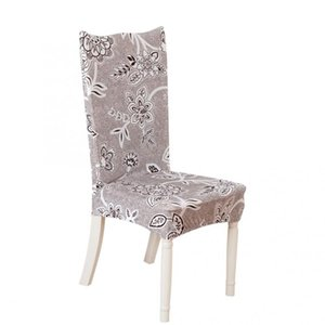 chair covers spandex Polyester Print Elastic Chair Cover Removable Protective Covers for Home Wedding Hotel dining
