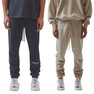 Mens Fashion Designer Pants letra impressa Womens 3M reflexiva Jogging Calças Hip Hop Streetwear masculinos Sweatpants Casual