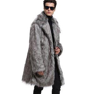 Lanshifei Herbst Winter Jacke Männer Dicke Fleece Mantel Pelzkragen Baseball Jacke Männer Plus Größe Faux Wolf Pelzmantel Mann Da ...