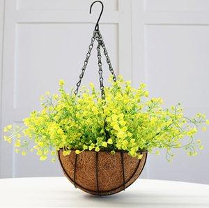 1 ramo de bricolaje artificial flor de aliento de bebé Gypsophila planta de silicona falsa para decoraciones de fiesta de boda en casa