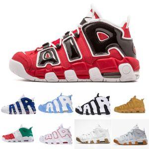 Zapatos de baloncesto Uptempo de alta calidad con cojín de aire para hombres mujeres 96 QS Olympic Varsity Maroon 3M Scottie Pippen zapatillas deportivas tamaño 36-45
