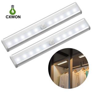 Vücut ve aydınlatma sensörü 10pcs LED İnsan vücudu indüksiyon lamba Kabine koridor dolap acil LED gece lambası