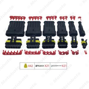 1 대 자동 방수 1/2/3/4/5/6 핀 방법 전선 커넥터 플러그 자동차 오토바이 해양 HID AWG 소켓 # 3924