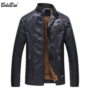 BOLUBAO Fashion Men Leather Jackets Coats Winter Male High Quality Faux PU Leather Jacket Coat Men's Warm Casual Jackets