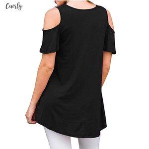 Womens Short Sleeve Linen Casual Cold Shoulder Tunic Tops Loose Tshirts Women T Shirt Tees Drop Ship