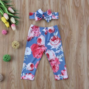 Spring New Leggings Pants Toddler Baby Girls Headband