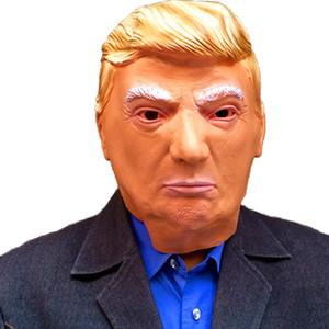 Trump Masques visage Coiffures Fournitures Election américaine Latex Masque crème solaire Trump caractère Jouer Coiffures Livraison gratuite