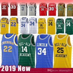 Príncipe 14 Will Smith 25 Carlton Banks basquete Camisa 34 Jesus Shuttles-estima fresco filme Ray Allen Lincoln Amor 22 McCall Jerseys NCAA