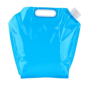 K0deZ Outdoor outdoor sports sports portable folding water bag travel camping mountaineering portable bucket 5L large capacity suction mout
