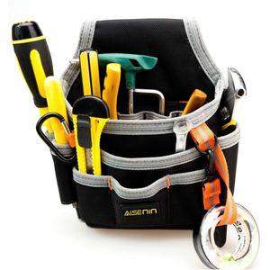 AISENIN Techniker Wartung und kleine Werkzeugtasche der Elektriker mit mehreren Taschen, Baumaschinen Pouch Werkzeug Organizer für Werkzeuge, Flashl