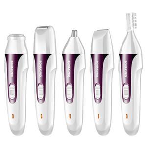 MARSKE Depiladores eléctricos Sonax Pro Ladies Ceja axila de plumas cejas pubis Granulador de cabello Todo el cuerpo derramado 3 4 5 en 1 Recortadores de nariz