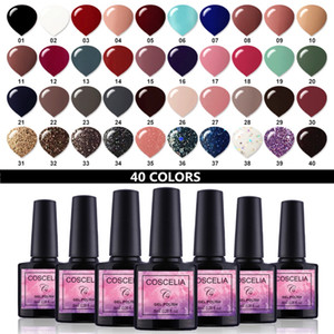 COSCELIA 40pcs / set Gel Nagellack-Gel Lack-Set für Varnish Semi Permanent Varnish Uv 40 Farben für Nagel-Kunst-Maniküre-Set
