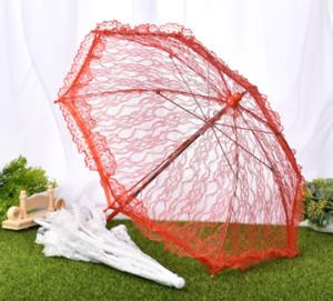 Delicado rendas guarda-chuva elegante estágio desempenho estúdio guarda-chuva de algodão bordado antigo guarda-chuvas de renda dama de honra guarda-chuva