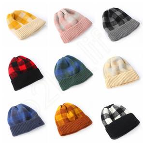 الشتاء محبوك منقوشة قبعة الوالدين والطفل قبعة دافئة لينة الآباء أطفال تحقق محبوك القبعات في قبعات مترهل HHA482
