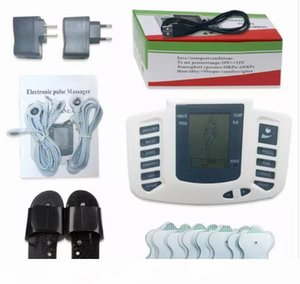 Electrical Stimulator Full Body Relax Muscle Digital Massager Pulse TENS Acupuncture with Therapy Slipper 16 Pcs Electrode Pads FREE SHIPPIN