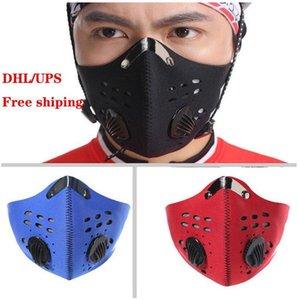 UPS de la nave libre Carretera Mountain Running medias máscaras faciales anti-polvo Ciclismo mascarilla de respiración activa Activado máscara protectora de la cara ciclo del carbono