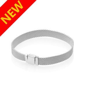 Nueva llegada Reflexiones cadena de la mano Pulsera de caja original de Pandora pulseras de plata esterlina 925 para mujeres de los hombres