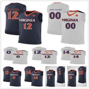 Custom UVA Virginia Cavaliers 2 Braxton Key 11 Ty Jerome 20 Amandine Toi 45 Austin Katstra Jayden Nixon 22 Caffaro 12 DeAndre Hunter Jersey