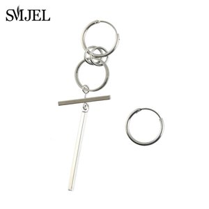 SMJEL Circle Earrings DNA Korean Fashion Long Men Boys V DNA Stud Earring For Women Men Kpop Earings Friendship Gifts