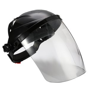 Schwarz Anti-Schock-Schweißhelm Face Shield Solder Mask transparente Linse Gesicht Auge schützen Schild Anti-UV-Anti-Schock-Sicherheits-Schablone