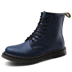 أحذية الشتاء القوطية الرجال منصة أحذية الثلج زبدة نباتية الحصان الفراء حقيقية الجلود أحذية الكاحل ذكر السامي الأعلى ربط الحذاء حتى سلامة العمل رقم 248